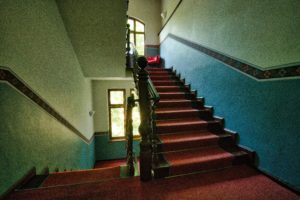 stepping out Katherine Gotthardt stairs